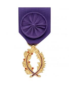 Médaille Officier de l'Ordre des Palmes Académiques Bronze Doré